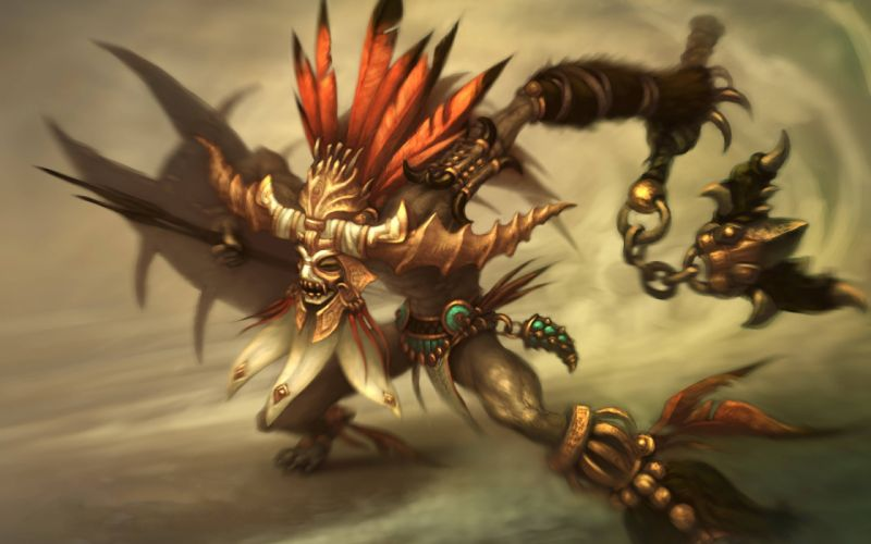 Fantasy video games artwork diablo iii witch doctor wallpaper
