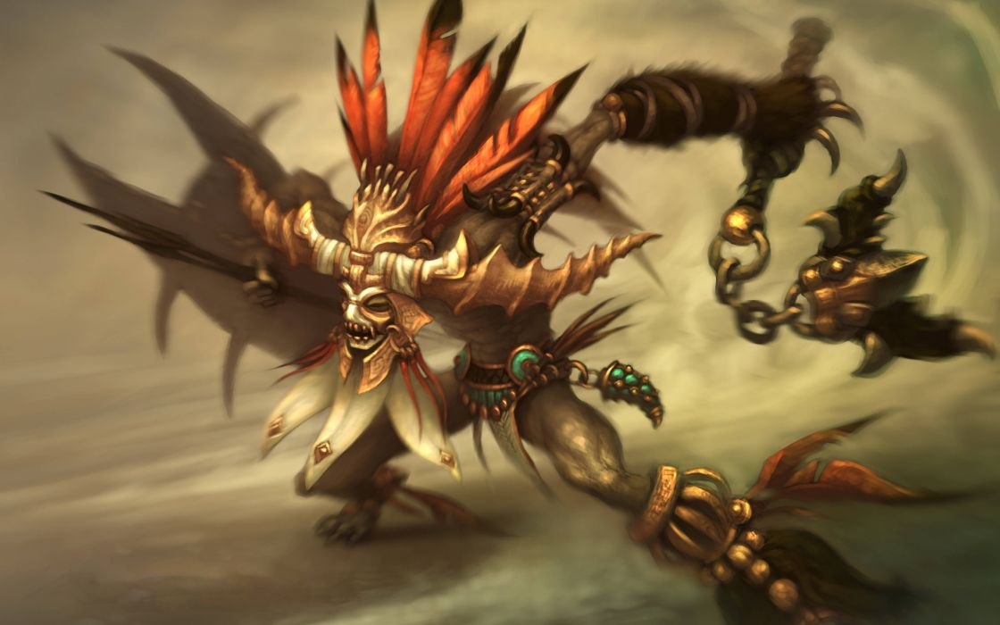 Fantasy video games artwork diablo iii witch doctor wallpaper