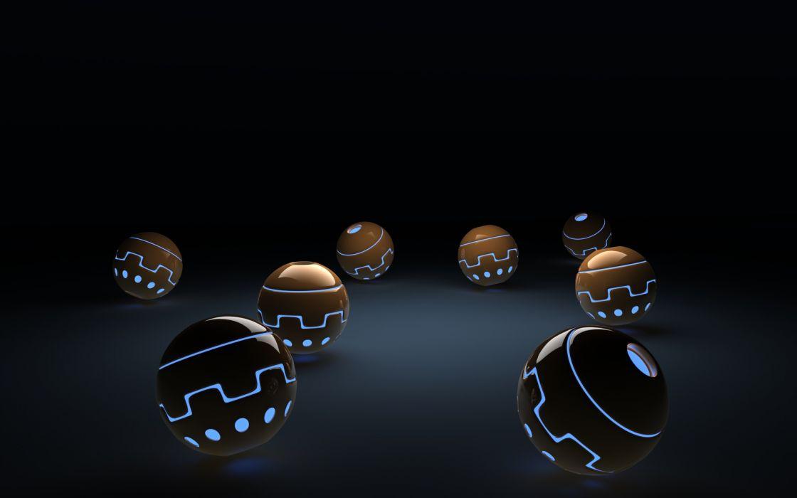 Balls glowing artwork spheres wallpaper