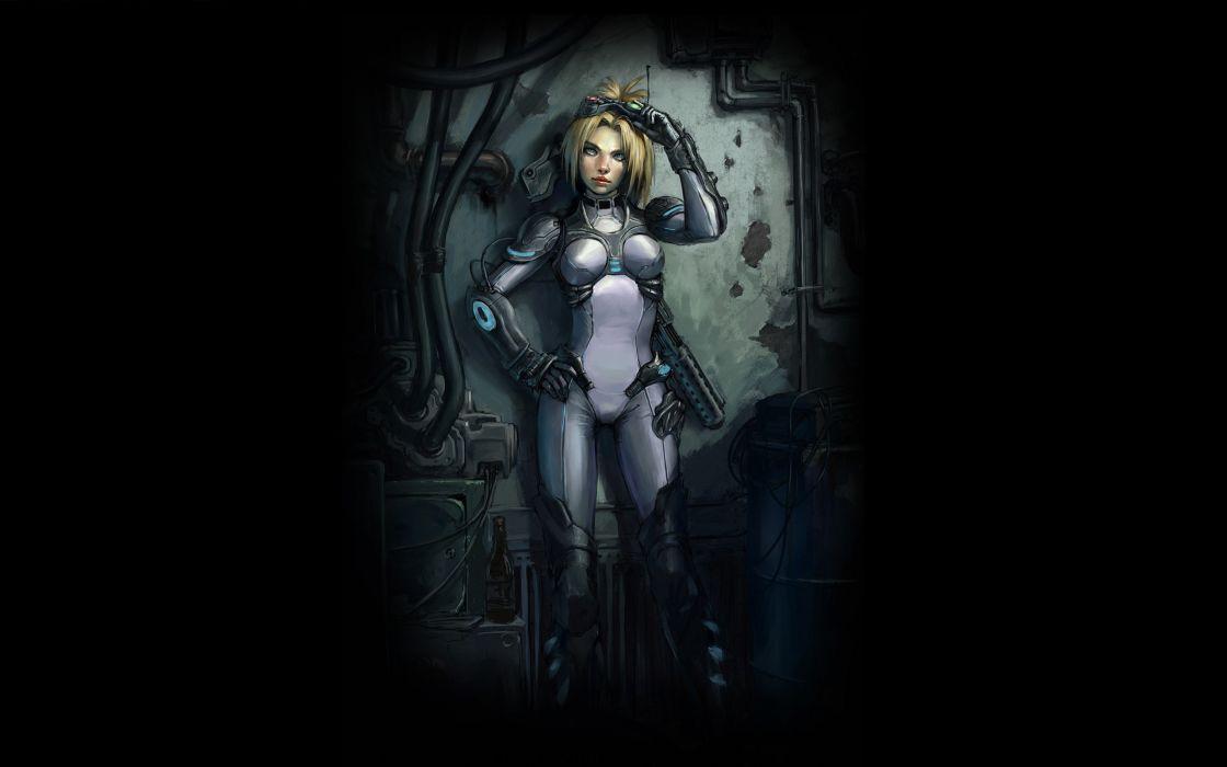 Blondes women starcraft fantasy art nova artwork ghost wallpaper