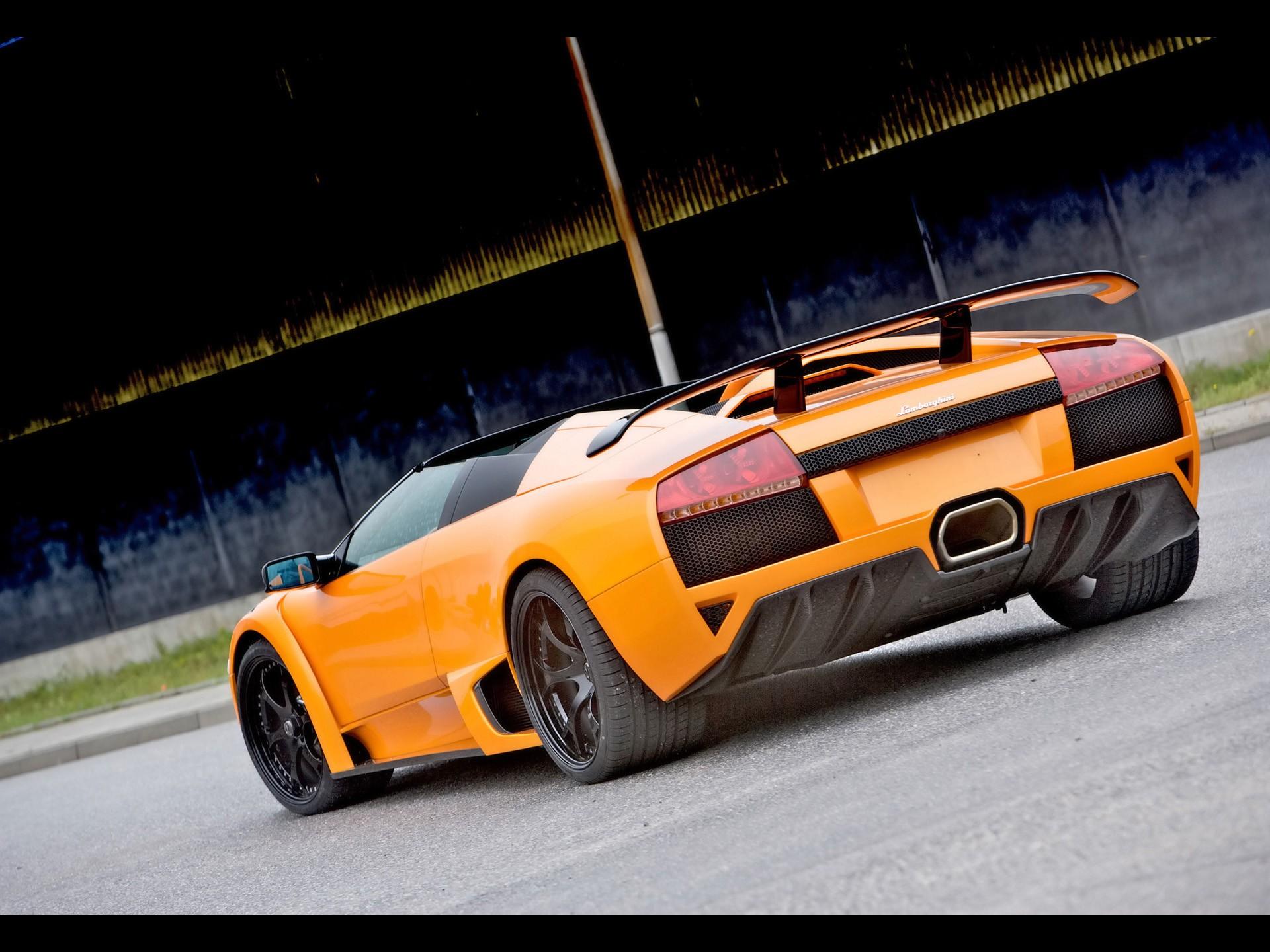 Cars Backview Vehicles Lamborghini Murcielago Orange Cars Exotic
