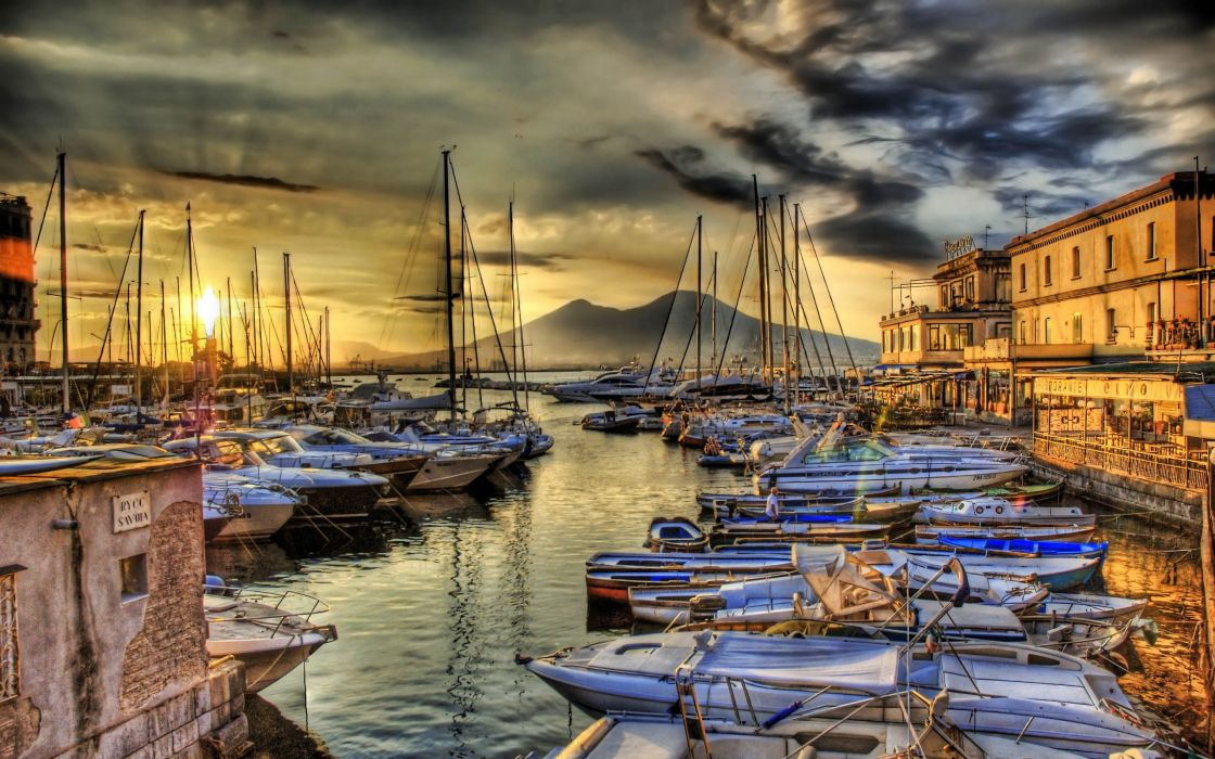 Ocean sail dock ships boats vehicles hdr photography wallpaper