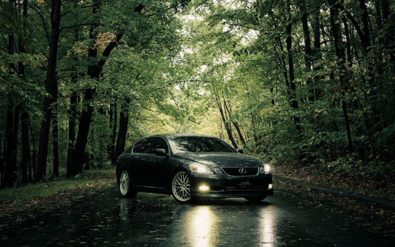 Trees cars roads lexus wallpaper