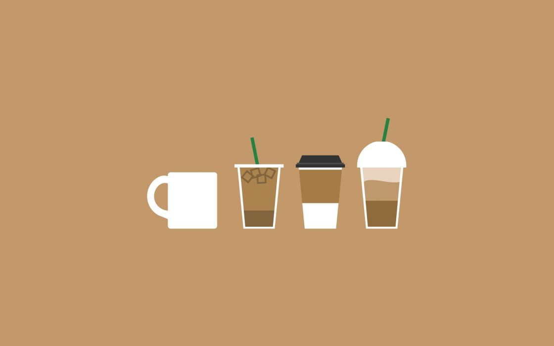 Caffeine coffee cold brown drinks straw wallpaper