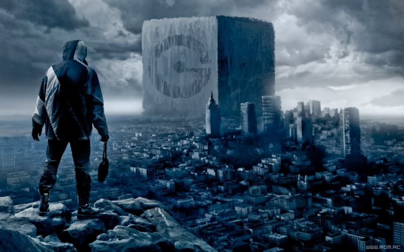 Cityscapes fantasy art cubes digital art science fiction artwork drawings romantically apocalyptic vitaly s alexius wallpaper