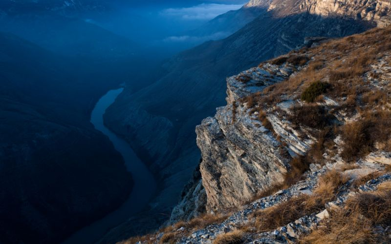Mountains landscapes edge rivers wallpaper