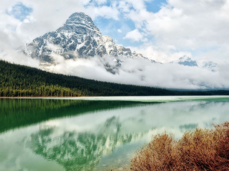 Mountains landscapes nature lakes skyscapes wallpaper