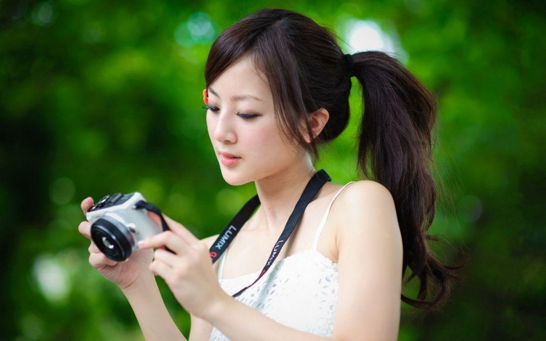 Brunettes women asians mikako zhang kaijie wallpaper