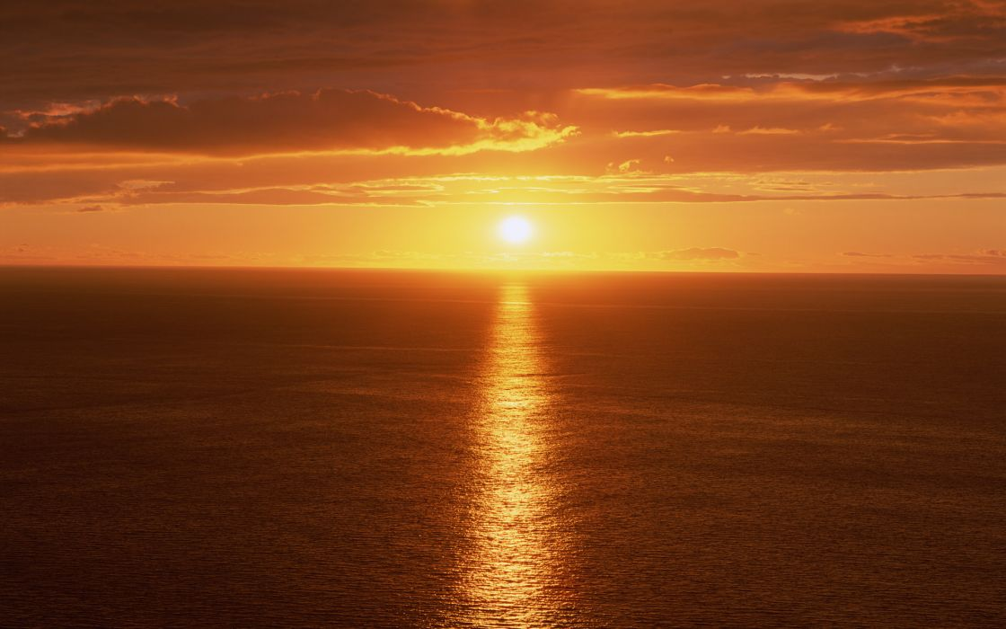 Sunset red seascapes wallpaper