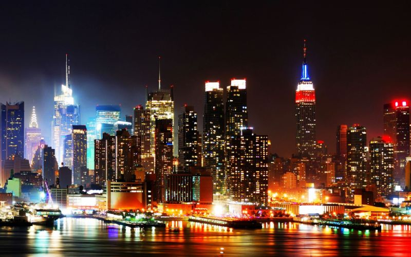 Cityscapes night lights wallpaper
