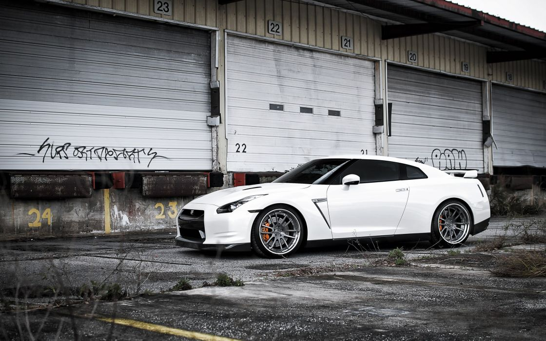 White cars nissan vehicles supercars tuning wheels sport cars gt luxury sport cars speed nissan gt-r automobile wallpaper