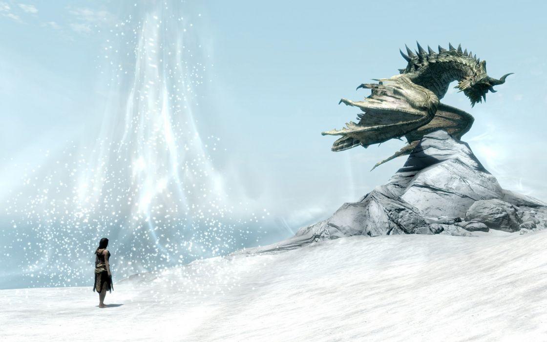 Video games the elder scrolls v skyrim wallpaper
