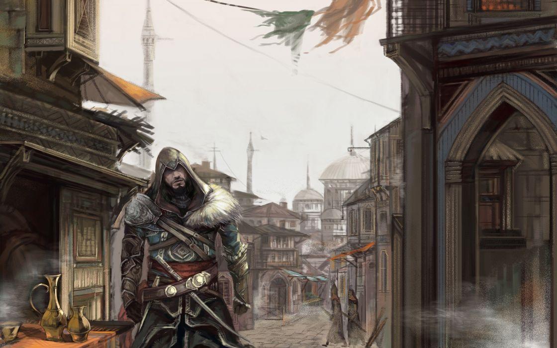 Video games cityscapes artwork assassins creed revelations wallpaper