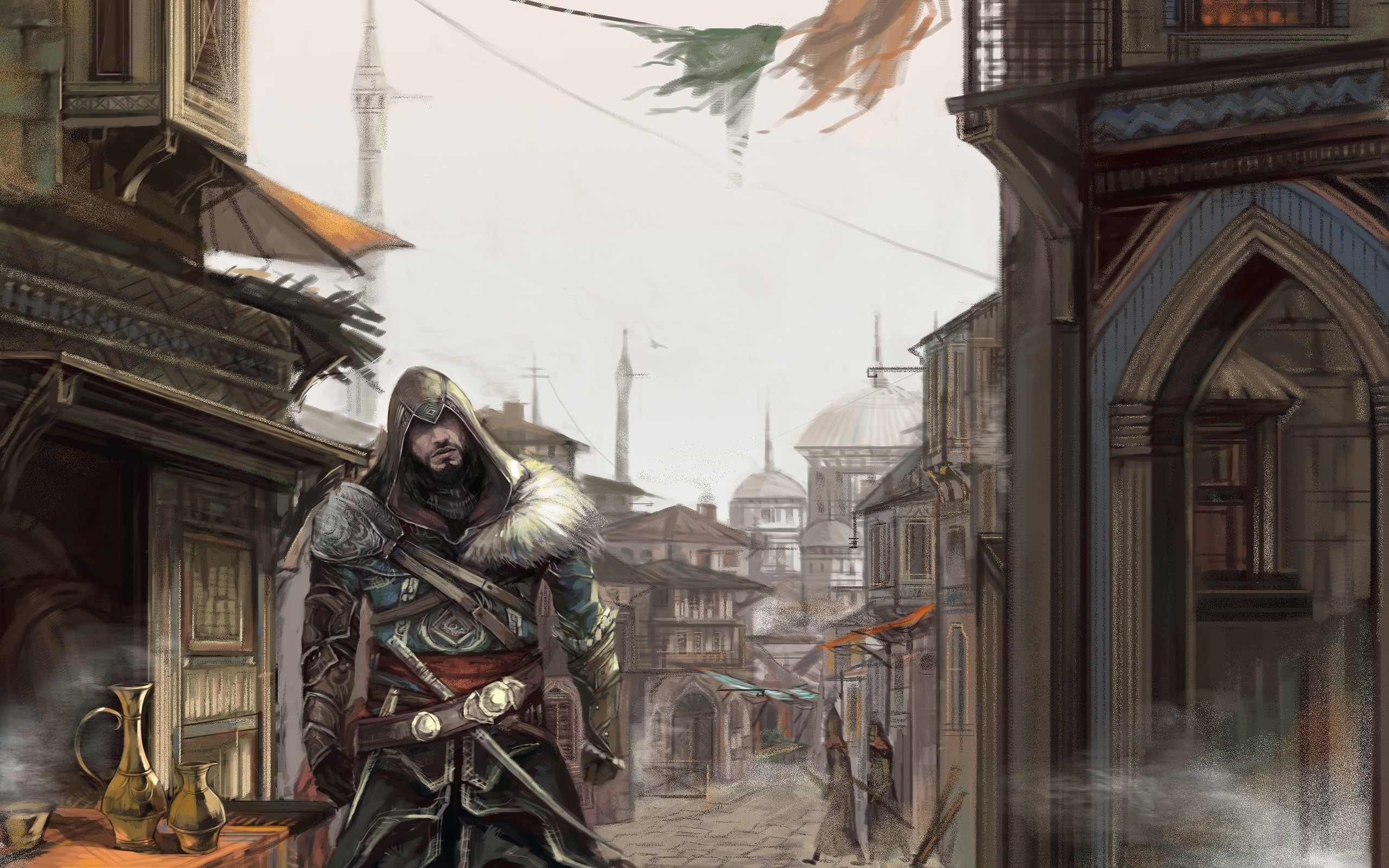 CONCEPT ART] Assassin&#39-s Creed Revelations (door Gilles Beloeil)