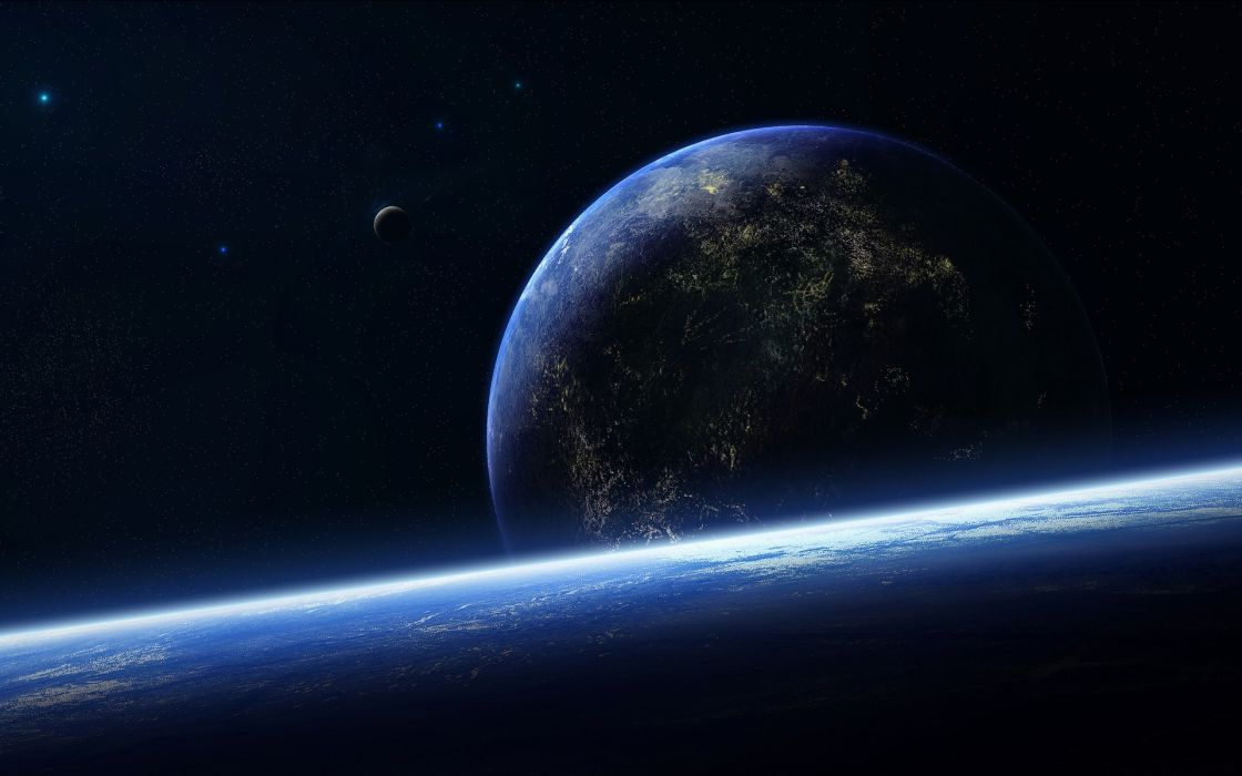 Outer space earth wallpaper