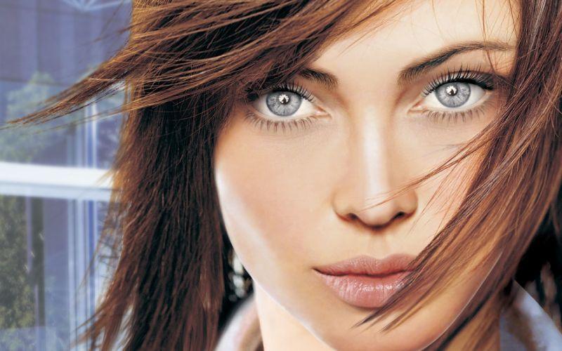 Women close-up blue eyes fantasy art digital art wallpaper