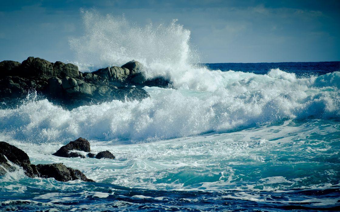 Water ocean waves wallpaper