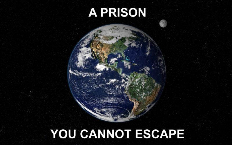 Text earth prison end now wallpaper