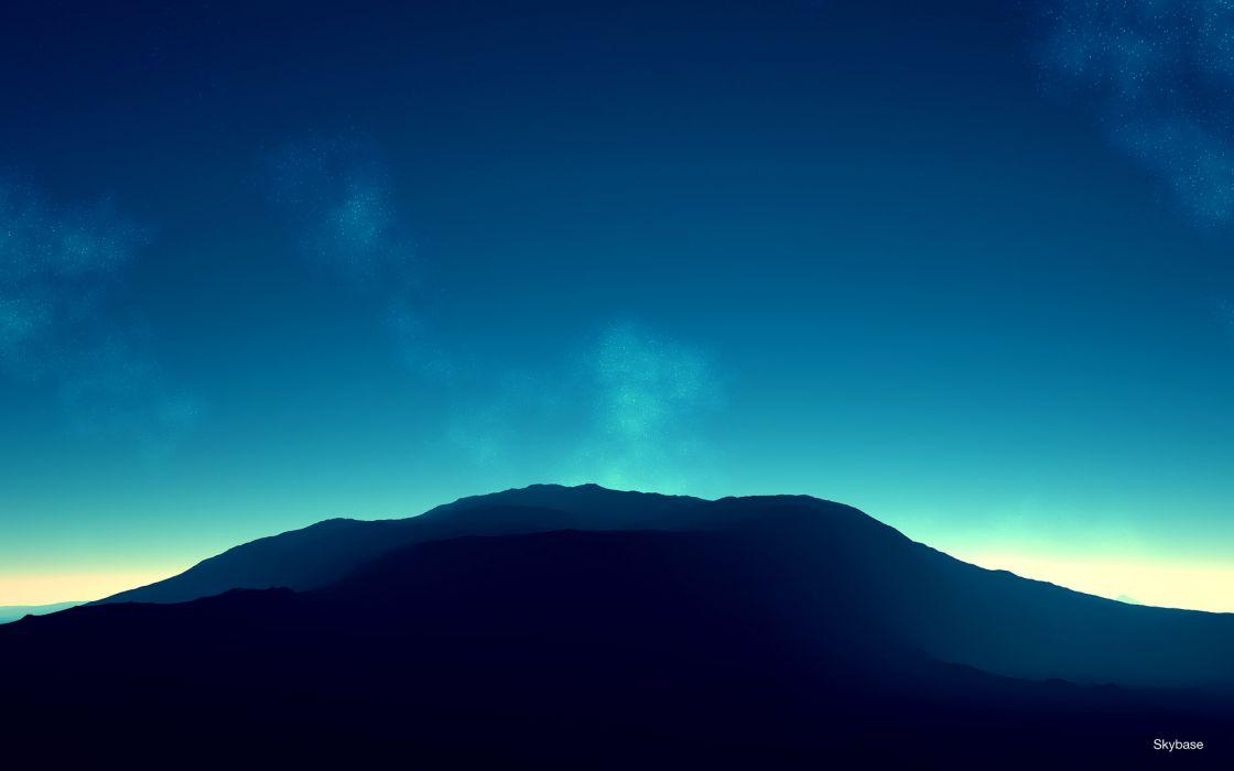 Mountains horizon skyscapes wallpaper