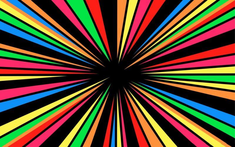 Abstract rainbows vortex colors wallpaper