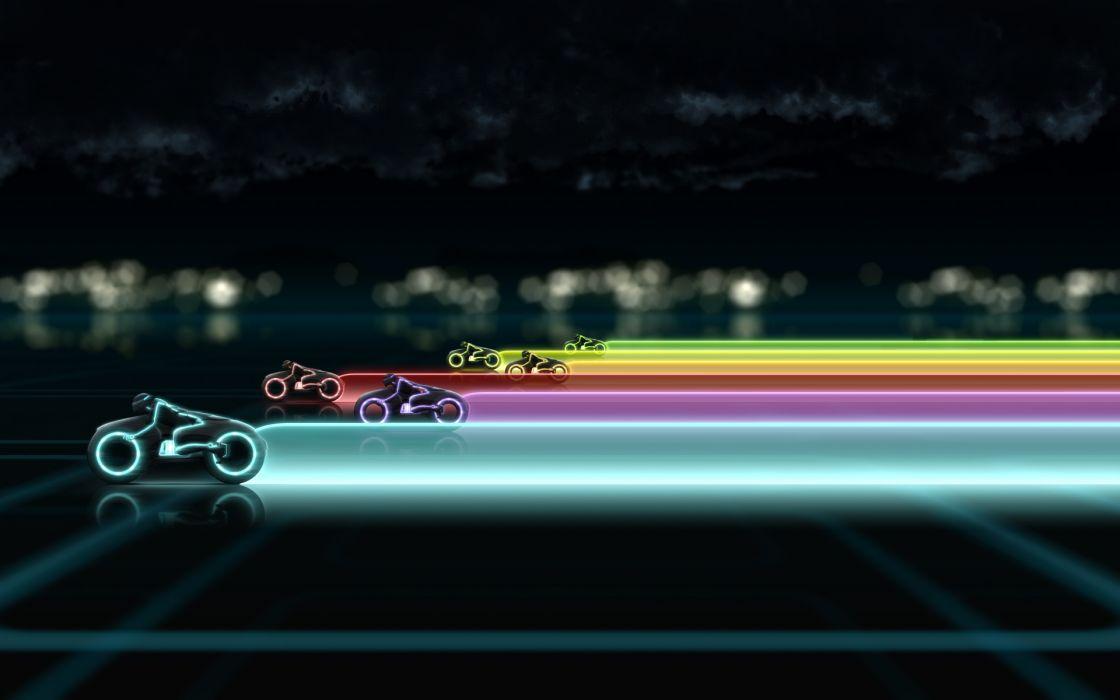 Rainbows tron legacy wallpaper