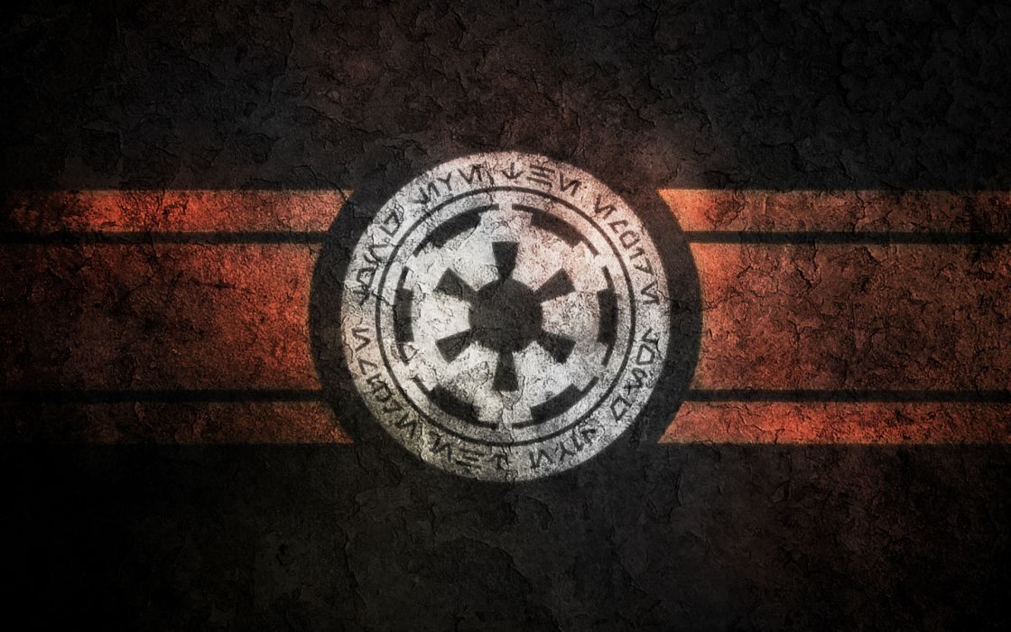 Star wars coat of arms rusted logos galactic empire wallpaper