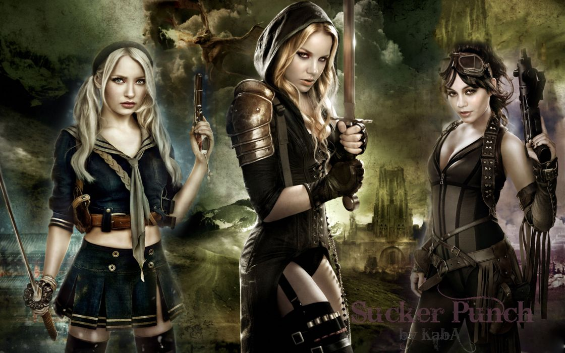 People emily browning vanessa hudgens sucker punch abbie cornish wallpaper