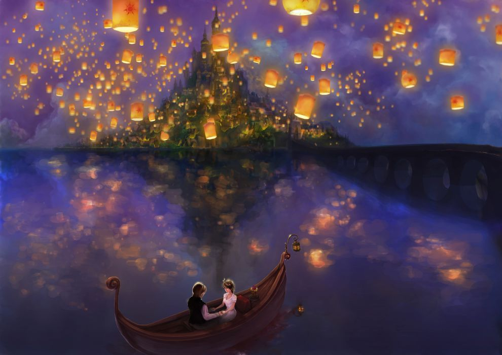 Disney company tangled wallpaper