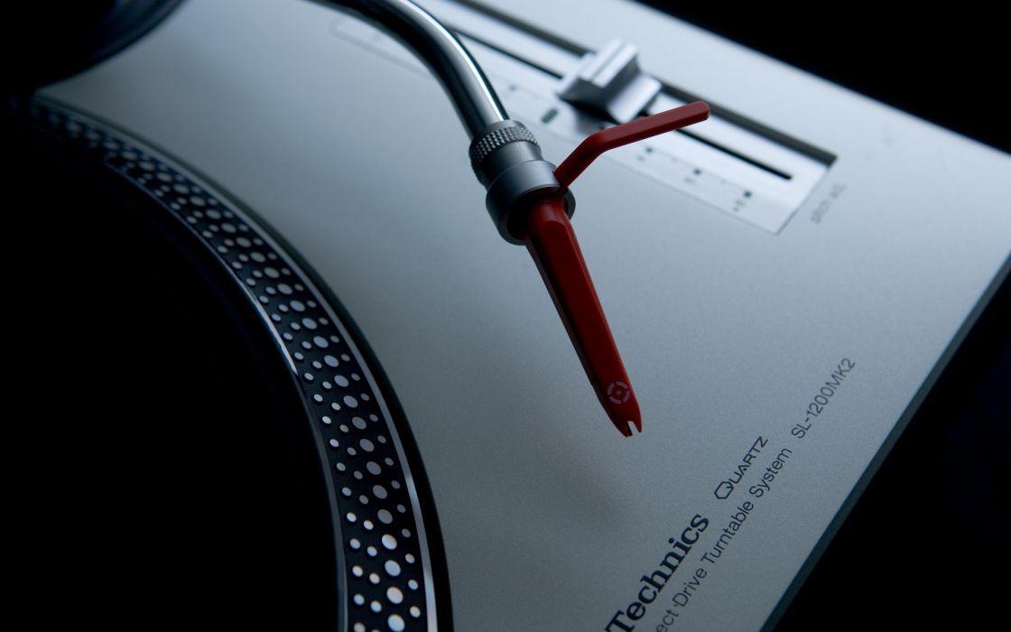 Music artistic studio techno turntables technics dj  wallpaper