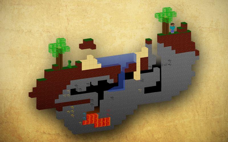 Minecraft notch wallpaper