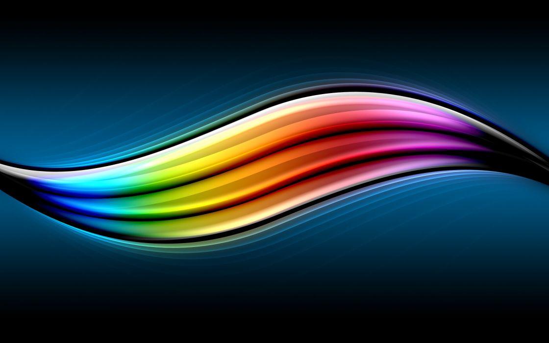 Abstract multicolor flow wallpaper