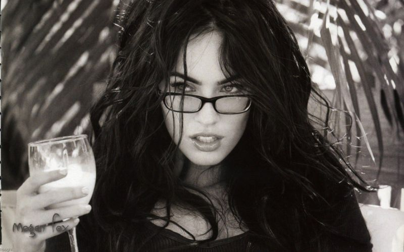 Brunettes women megan fox actress celebrity wallpaper