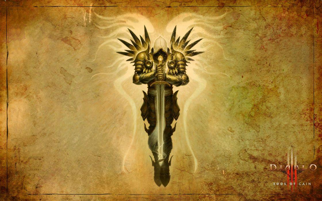 Video games tyrael artwork diablo iii swords tyrael archangel wallpaper
