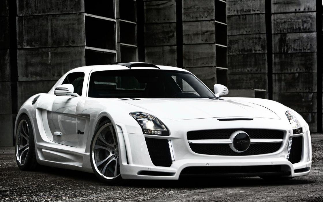 White Cars Front German Roadster Sls Amg Sportscar Sportscars Style Mercedes  Benz Wallpaper