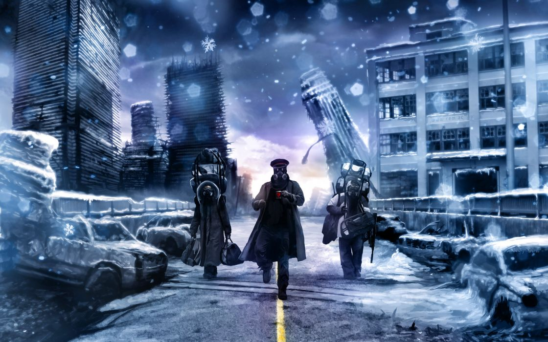 Winter artwork drawn romantically apocalyptic vitaly s alexius comic wallpaper