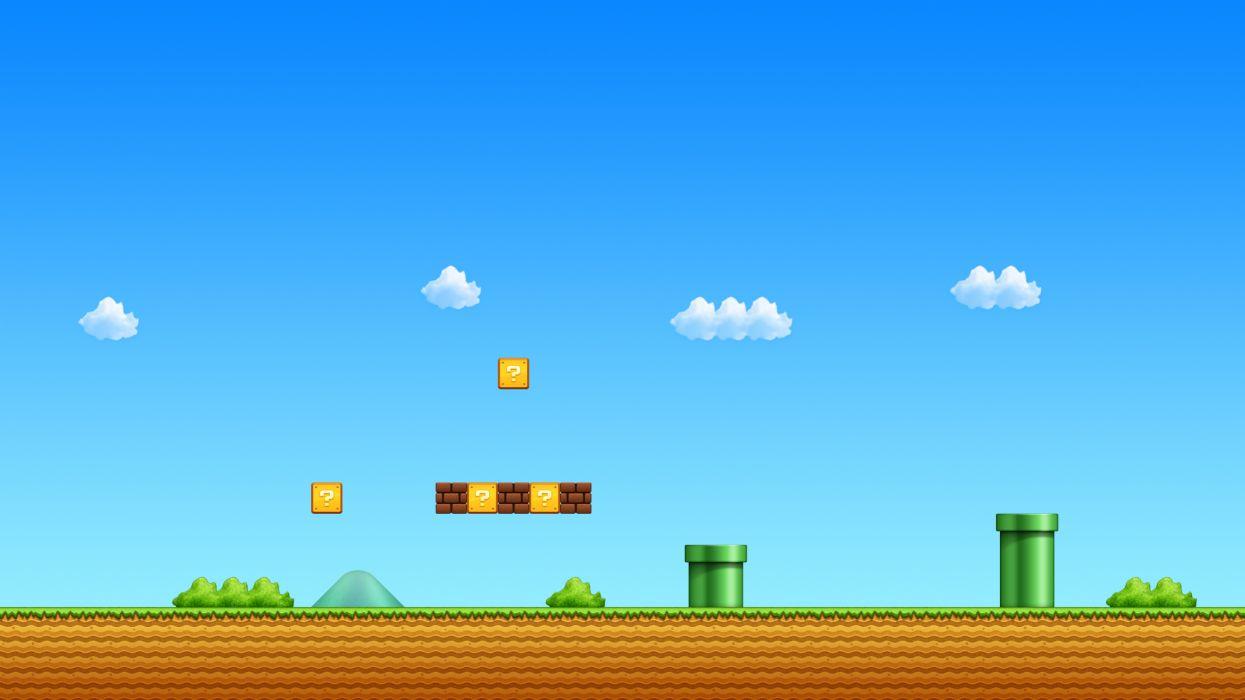 Nintendo video games mario super mario beginning retro games wallpaper