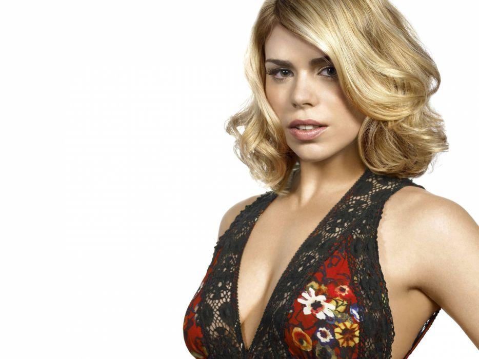 Blondes women actress cleavage billie piper sideboob wallpaper