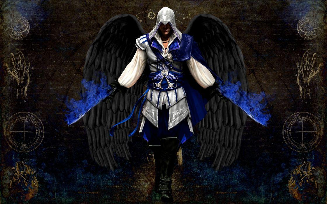 Angels video games assassins creed altair wallpaper