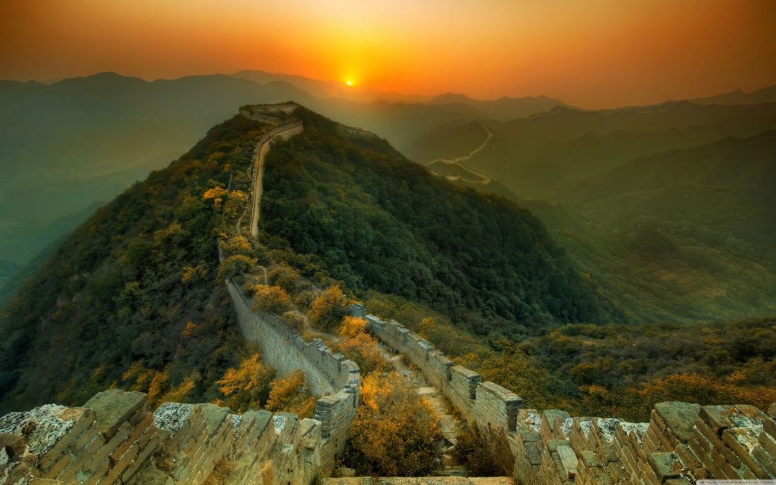 Landscapes china wall wallpaper