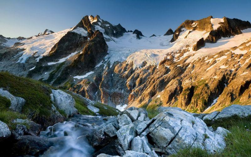 Mountains nature snow wallpaper