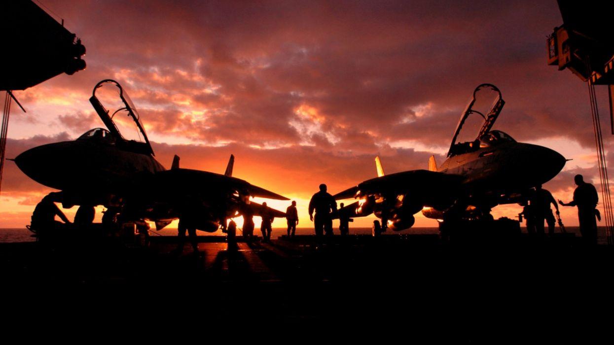 Sunset aircraft aircraft carriers aviation wallpaper