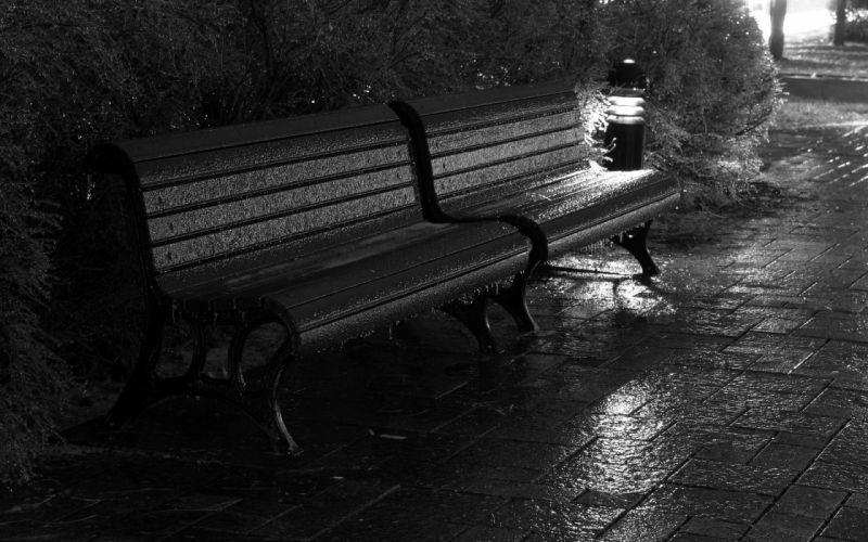 Night cybermen bench grayscale doctor who parks wallpaper