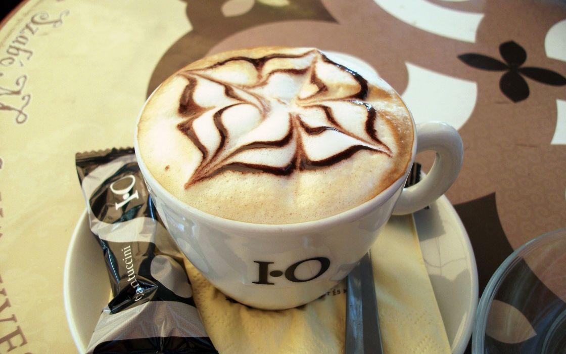Cappuccino coffee cups wallpaper