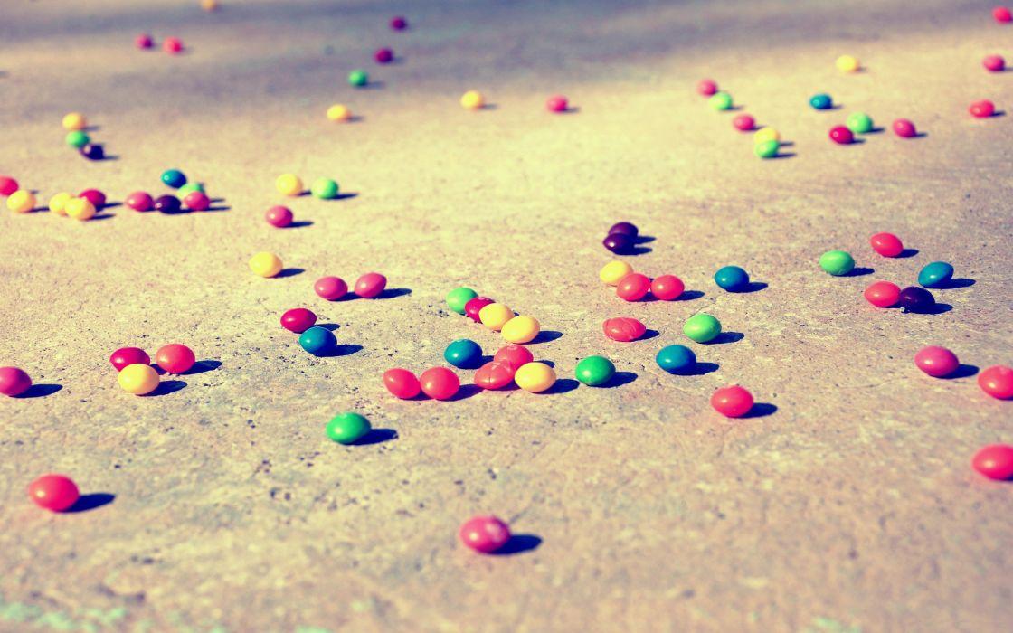 Vintage sweets (candies) rainbows fallen wallpaper