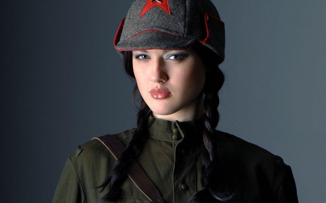 Women uniforms soviet  wallpaper