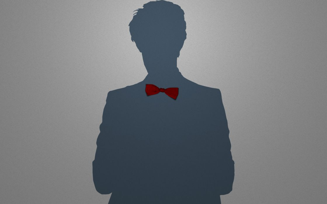 Minimalistic Eleventh Doctor Who Bowtie Wallpaper