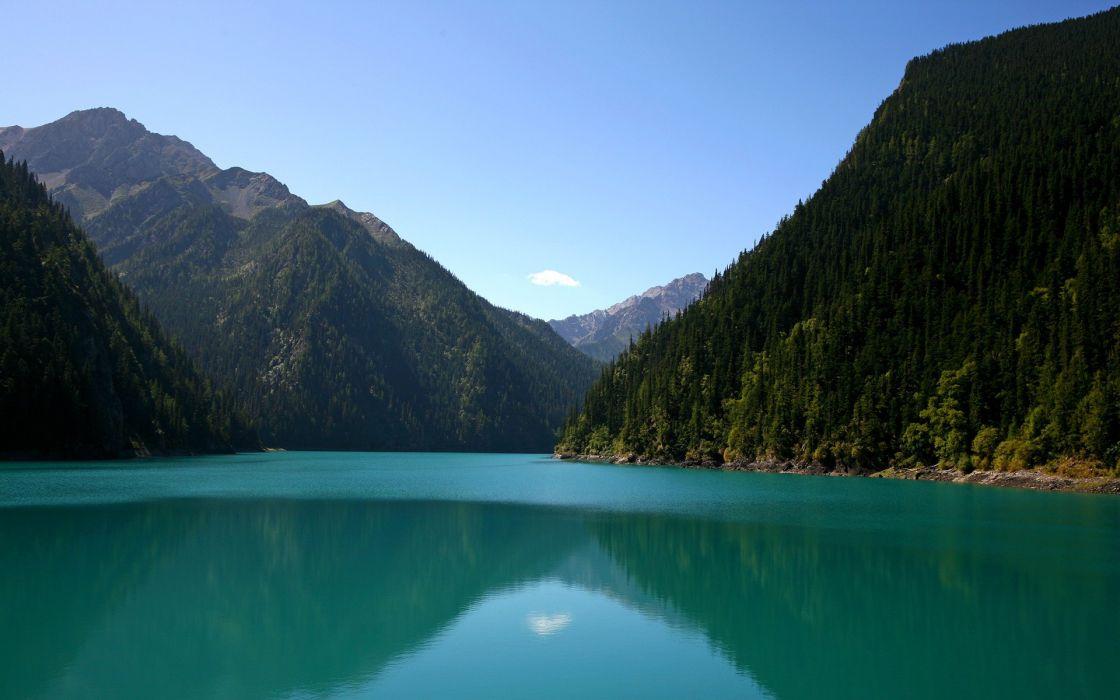 Mountains nature lakes wallpaper