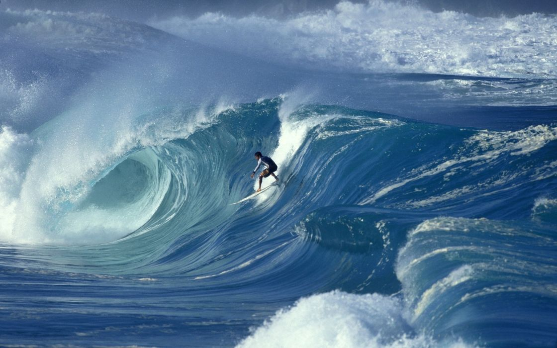 Ocean waves surfers wallpaper