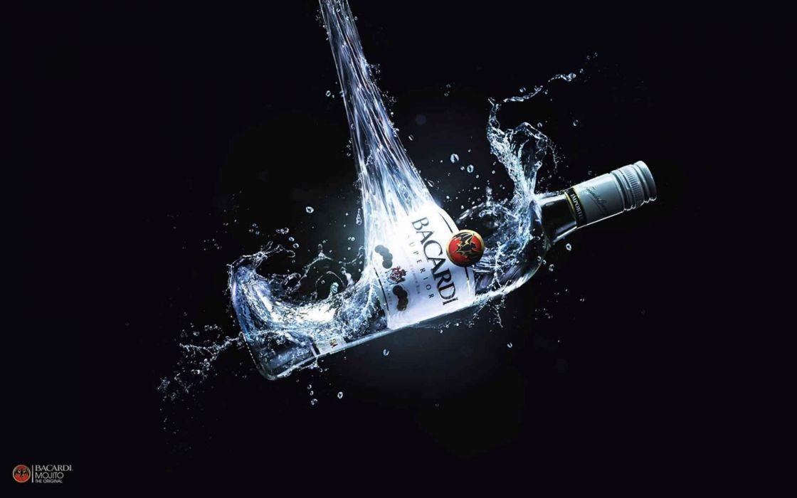 Water bottles liquid bar alcohol advertisement drinks wallpaper