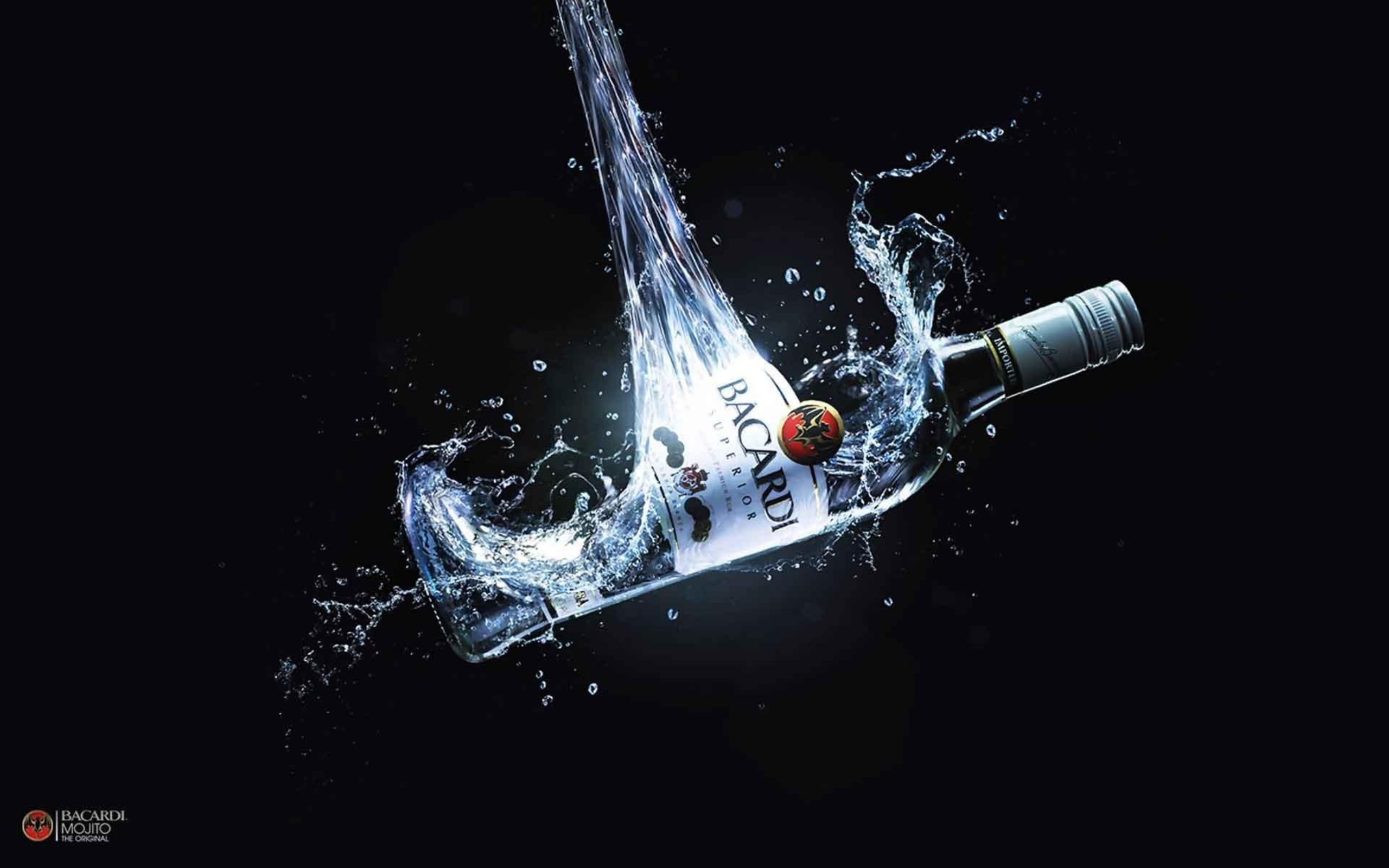 Water Bottles Liquid Bar Alcohol Advertisement Drinks